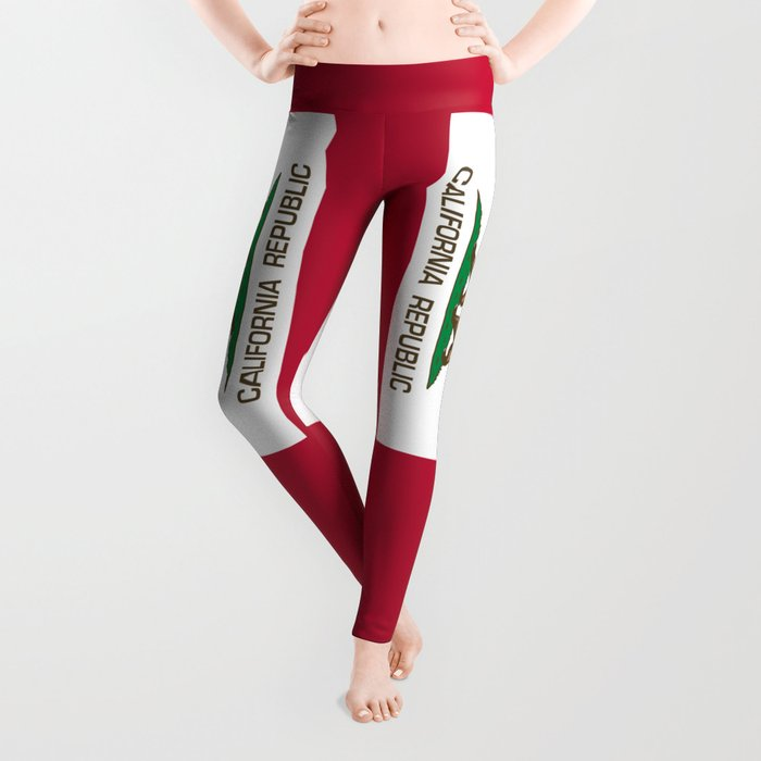 California Republic Flag, High Quality Image Leggings