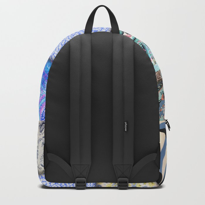 Faux Patchwork Quilting - Blues Backpack