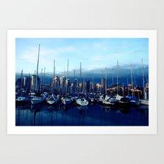 Vancouver Yacht Club Art Print