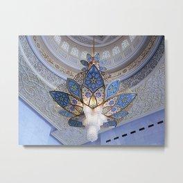 Dubai - Magnificent Chandelier Metal Print