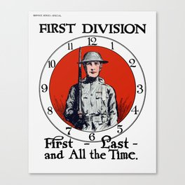 First - Last - And All The Time Canvas Print