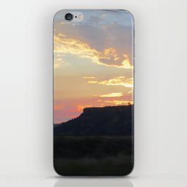 Sunset behind Table Rock in Oregon iPhone Skin