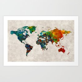 World Map 61 Art Print