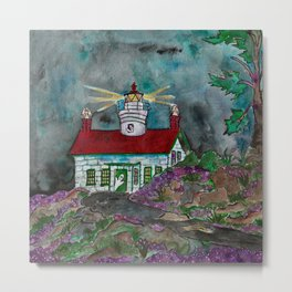 Haunted Lighthouse Metal Print