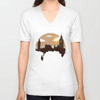sherlock V-neck T-shirts featuring Sherlock by Typo Negative