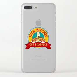 Fuck Bitches, Get Brapples Clear iPhone Case