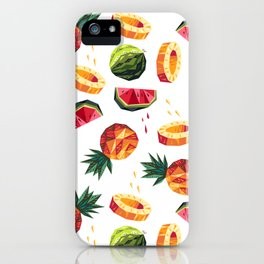 Edgy Tropical Mix iPhone Case