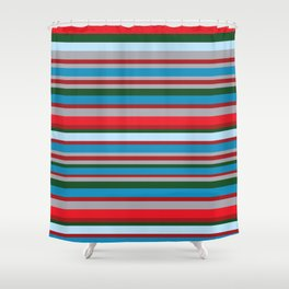 Line Geek Shower Curtain