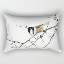 Snowy Chickadee Rectangular Pillow