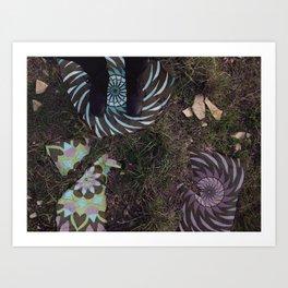 Walking on Patterns Art Print