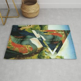 another portrait disaster · square 1 Rug