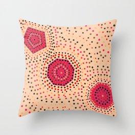 Shapes- aboriginal II Throw Pillow