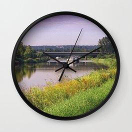 canal boatman Wall Clock