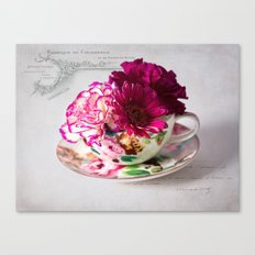 Shabby chic floral Canvas Print