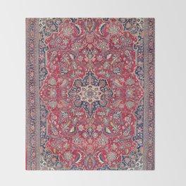 Bijar Kurdish Northwest Persian Rug Print Throw Blanket