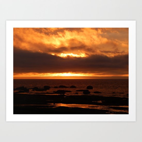Sensational Sunset Art Print