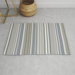Blue grey Tan Stripes Rug