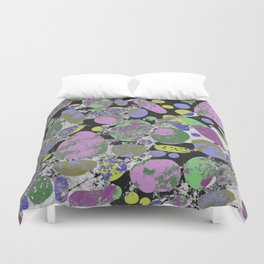 Crazy Paving - Abstract, textured, pastel coloured artwork Duvet Cover