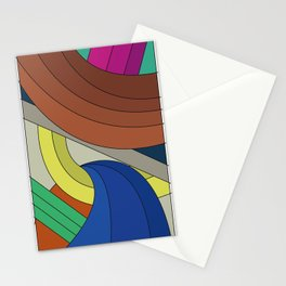 Comic Color Rectangle Stationery Cards