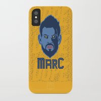 marc iPhone & iPod Cases featuring Marc Gasol by Ric_Hardwood