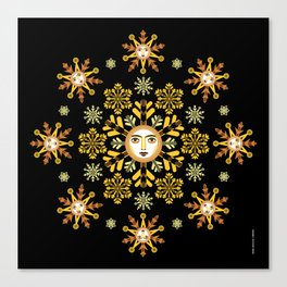 Snow Flake by ©2018 Balbusso Twins Canvas Print