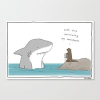 newspaper Canvas Prints featuring Newspaper by Liz Climo