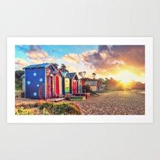 Aussie Beach Life Art Print