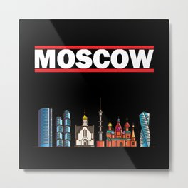 Moscow - Russia's Breathtaking Capital - Vintage Metal Print