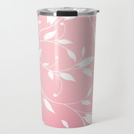 FLOWERY VINES | pink white Travel Mug