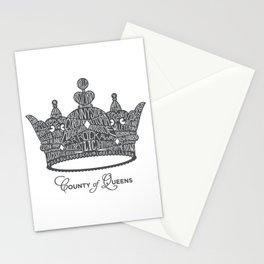 County of Queens | NYC Borough Crown (GREY) Stationery Cards