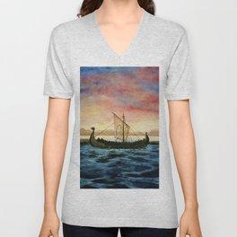 Drakkar, watercolor Unisex V-Neck