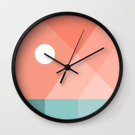 Geometric Landsape 12 Wall Clock