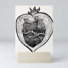 Sagrado Corazón. Sacred Heart. Mini Art Print