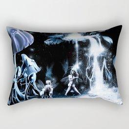 Fairies in the waterfall Rectangular Pillow