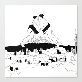 sumo time Canvas Print