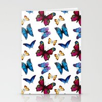 butterflies Stationery Cards featuring Butterflies by Katerina Izotova