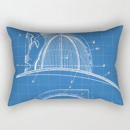 Firemans Helmet Patent - Fireman Art - Blueprint Rectangular Pillow