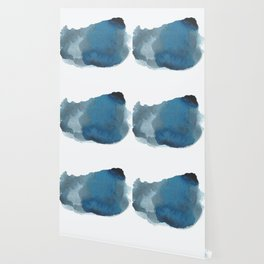 Available: dark abstract blue painting Wallpaper