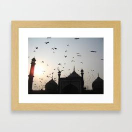 the flight home Framed Art Print