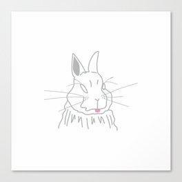 Cheeky Rabbit Canvas Print