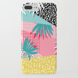 Bingo - throwback retro memphis neon tropical socal desert festival trendy hipster pattern pop art iPhone Case