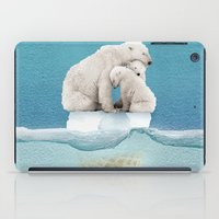 ice iPad Cases featuring polar ice cream cap 02 by Vin Zzep
