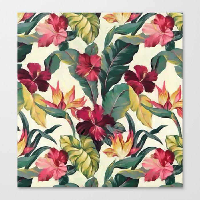 Colorful tropical garden Canvas Print