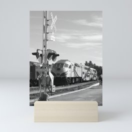 rail runner Mini Art Print