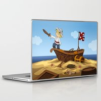 pirate ship Laptop & iPad Skins featuring Pirate by TubaTOPAL