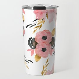 Night Meadow on White Travel Mug