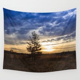 Sunrise at the fields Wall Tapestry