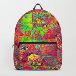 Neon Abstract Moroccan Floral Backpack