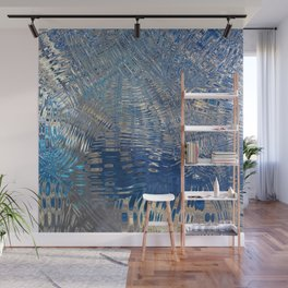 freeze glass with trees Wall Mural