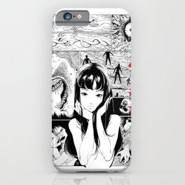 Tomie Junji Ito minimalist anime poster sticker  iPhone Case